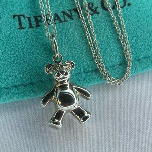 "Tiffany & Co. Teddy Bear Necklace 16"""
